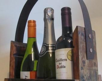 Whisky Barrel Wine/Whisky carrier-wine storage -whisky stave wine holder-gift for wine lover-Scottish gift