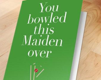 Anniversary card, Love message, Romantic, Birthday, Greeting, Cricket, Sport, Funny, Lovers, Wife, Husband, Girlfriend, Boyfriend, Mans card