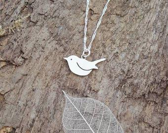 Beautiful Handmade 925 Sterling silver Robin/bird pendant/necklace - Bird lovers gift, Robin gift, bird gift