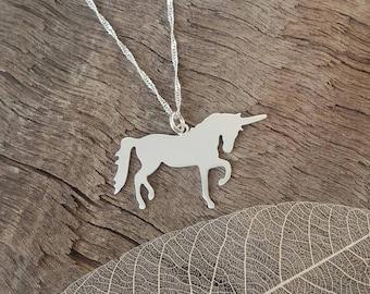 Handmade 925 Sterling silver unicorn pendant/necklace/charm - unicorn lovers gift