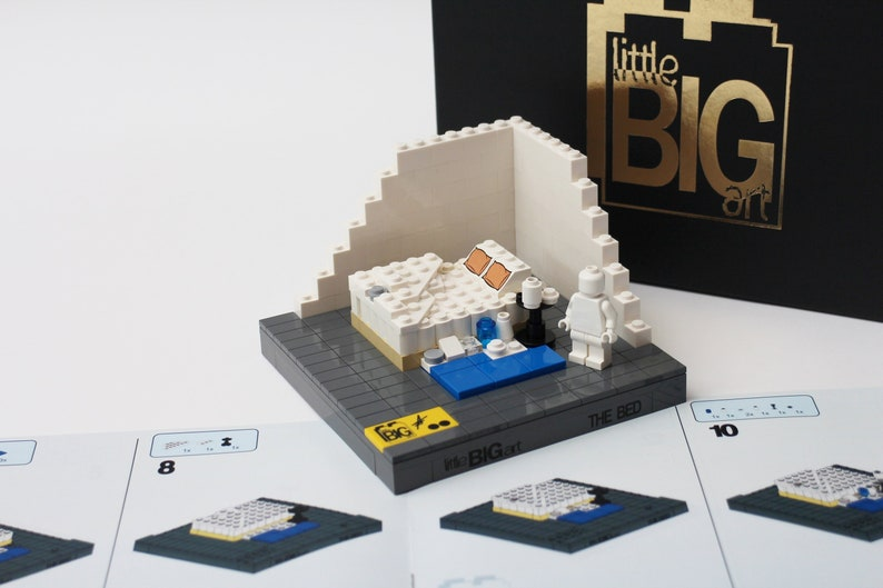 Build Your Own Art Lego Bed Model Tracey Emin My Bed By Etsy