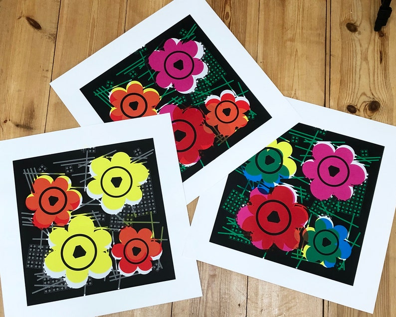 LEGO Warhol Flower Prints by Little Big Art Andy Warhol Pop image 0