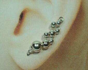 Climbing  Earrings -  Double Zig-Zag Style Custom Made