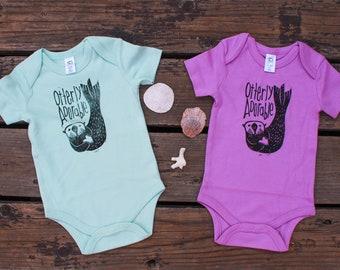 90bc9775d Sea Otter Organic Baby Bodysuit