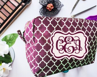Mother's Day Gift, Makeup Bag, Cosmetic Bag, Personalized Makeup Bag, Bridesmaid Gift, Birthday Gift, Monogrammed Makeup Bag,