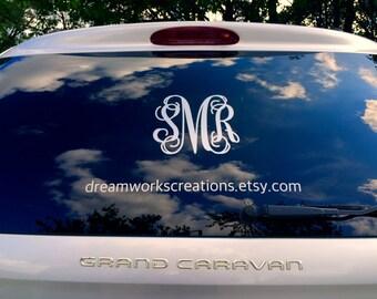 Sticker, Window Decal Sticker, Monogram Sticker, Car Window Sticker, Car Window Decal, Car Decal, Monogram Car Decal, Decal, Vinyl Car Decal