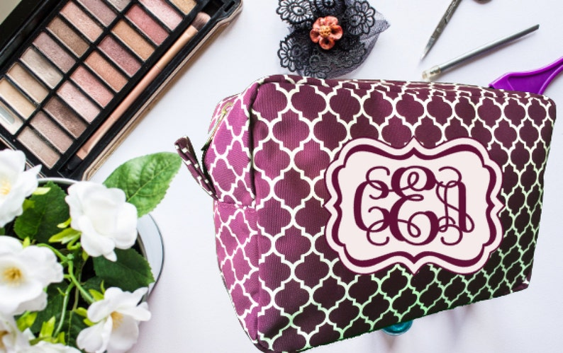 Christmas Gift Makeup Bag Cosmetic Bag Personalized Makeup  59941d9aa4a75