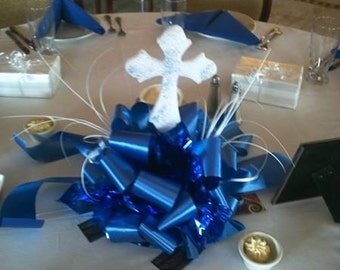 First Communion Bow Centerpiece