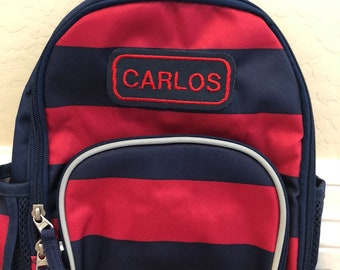 Extra Small Toddler Fairfax Striped  Pottery Barn Backpack Personalized