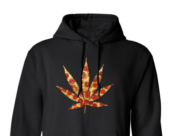 Pizza Weed hoodie Marijuanna 420 Hippie for Adult Unisex Hoodie Warm Clothing Hoodies Adult Hoodies and Sweatshirts Assorted Color Hoodies