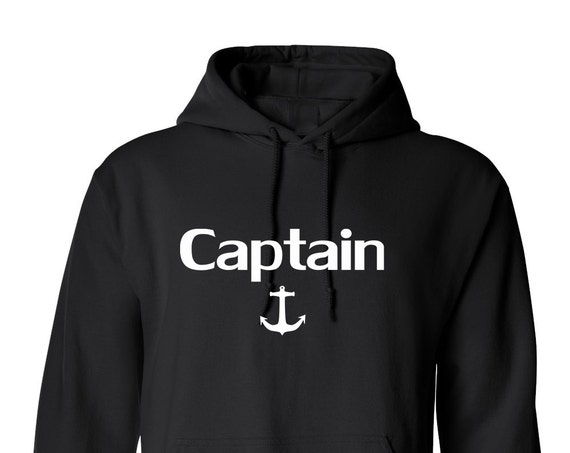 Captain Sea Anchor for Adult Unisex Hoodie Black and White Warm Clothing Hoodies Adult Hoodies and Sweatshirts Assorted Color Hoodies