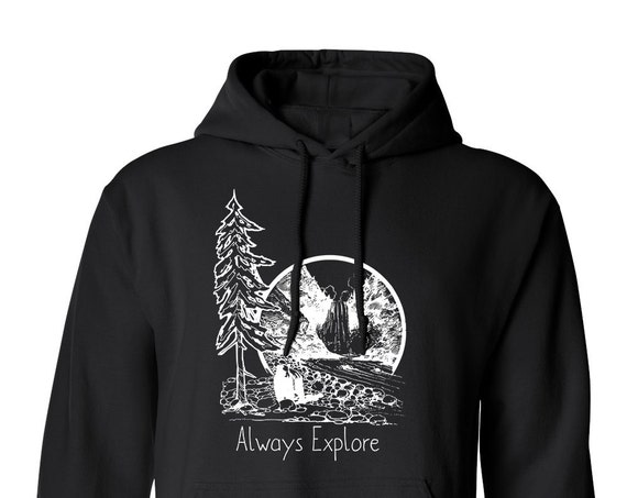 Forest Quote Always Explore Wild life Adult Unisex Hoodie Warm Clothing Men and Women Hoodies Hoodies and Sweatshirts Assorted Color Hoodies