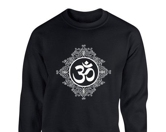 Om Symbol Namaste for Adult Unisex Sweater Crewneck Sweatshirts Warm Sweaters Crew-neck Women Clothing Men Clothing