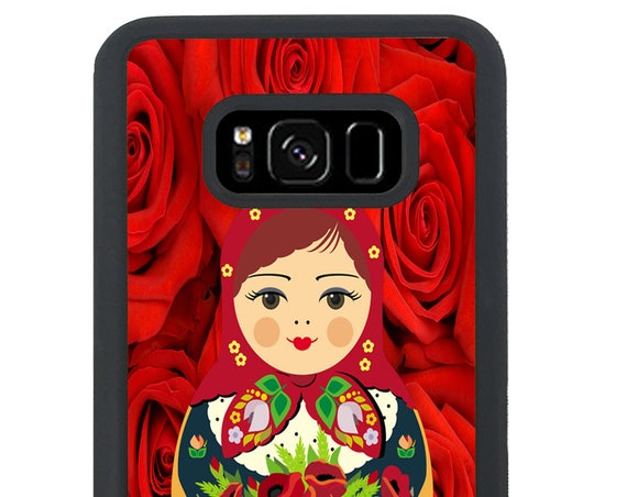 Russian Doll Roses Flower Lady For Samsung Galaxy S9 Plus, S9, S8 Plus, S8, S7 Edge, S7, S6 Edge Plus, S6 Edge, S6, S5, S4, S3 Phone Case