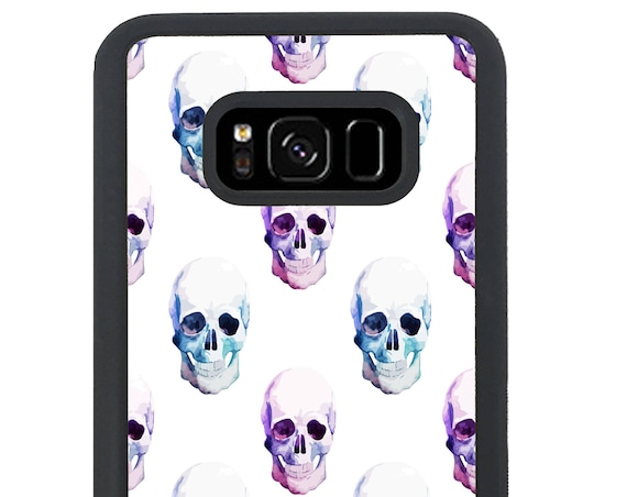 Colorful Trippy Skull Pattern  For Samsung Galaxy S9 Plus, S9, S8 Plus, S8, S7 Edge, S7, S6 Edge Plus, S6 Edge, S6, S5, S4, S3 Phone Case