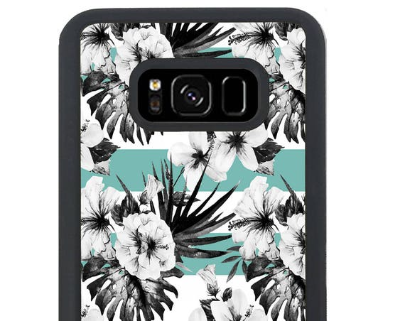 Minimal Floral Hibiscus Pattern For Samsung Galaxy S9 Plus, S9, S8 Plus, S8, S7 Edge, S7, S6 Edge Plus, S6 Edge, S6, S5, S4, S3 Phone Case
