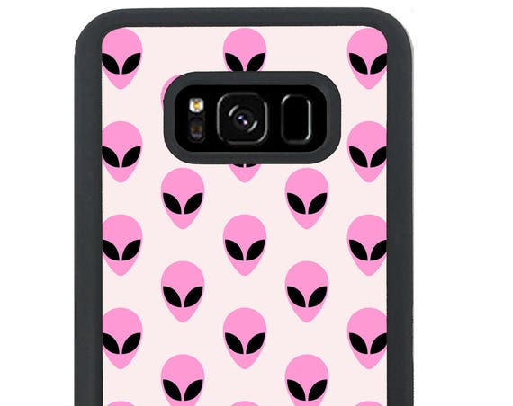 Cute Pink Pastel Alien Pattern For Samsung Galaxy S9 Plus, S9, S8 Plus, S8, S7 Edge, S7, S6 Edge Plus, S6 Edge, S6, S5, S4, S3 Phone Case