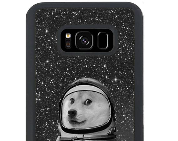 Funny Astronaut Space Doge For Samsung Galaxy S9 Plus, S9, S8 Plus, S8, S7 Edge, S7, S6 Edge Plus, S6 Edge, S6, S5, S4, S3 Phone Case