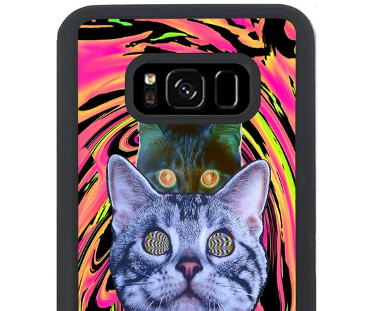 Trippy Acid Illusion Cats For Samsung Galaxy S9 Plus, S9, S8 Plus, S8, S7 Edge, S7, S6 Edge Plus, S6 Edge, S6, S5, S4, S3 Phone Case