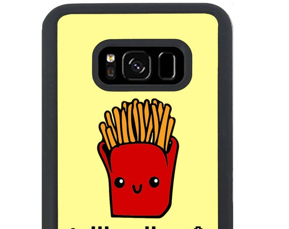 Kawaii Telling Lies And Eating Fries Funny Food Quote for Samsung Galaxy S4, S5, S6, S6 EDGE, S6 EDGE Plus, S7, S7 EDGE, S8 And S8 Plus