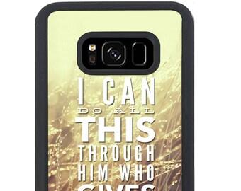Phone Case Philippians 4 13 Verse for Samsung Galaxy S4, S5, S6, S6 EDGE, S6 EDGE Plus, S7, S7 EDGE, S8 And S8 Plus