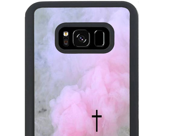 Pastel Pink Smoke Cross For Samsung Galaxy S9 Plus, S9, S8 Plus, S8, S7 Edge, S7, S6 Edge Plus, S6 Edge, S6, S5, S4, S3 Phone Case