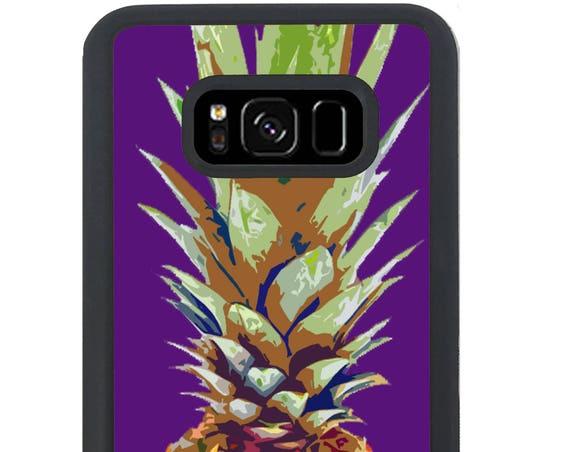 Purple Summer Fruit Pineapple Art For Samsung Galaxy S9 Plus, S9, S8 Plus, S8, S7 Edge, S7, S6 Edge Plus, S6 Edge, S6, S5, S4, S3 Phone Case