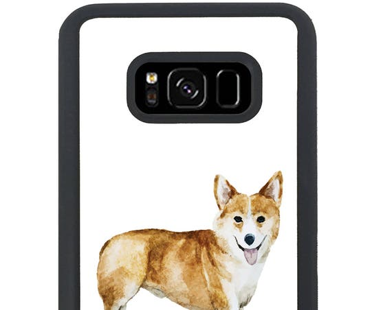 Corgi Watercolor Painting Design For Samsung Galaxy S9 Plus, S9, S8 Plus, S8, S7 Edge, S7, S6 Edge Plus, S6 Edge, S6, S5, S4, S3 Phone Case