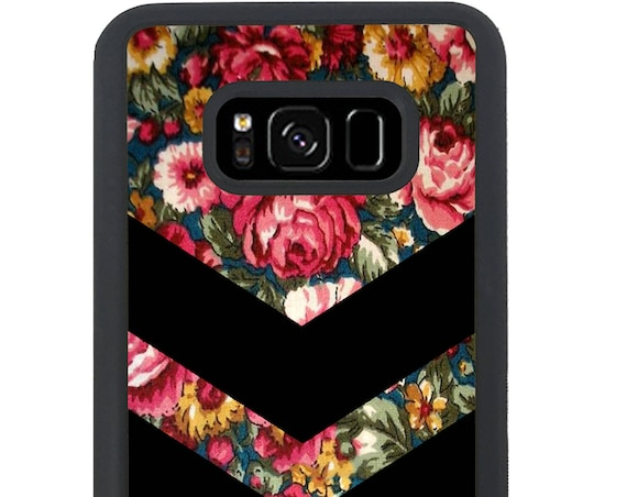 Chevron Floral Pattern  For Samsung Galaxy S9 Plus, S9, S8 Plus, S8, S7 Edge, S7, S6 Edge Plus, S6 Edge, S6, S5, S4, S3 Phone Case