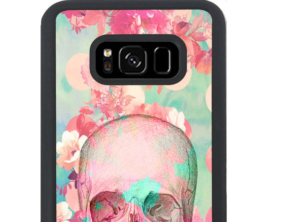 Beautiful Flowers Floral Skull For Samsung Galaxy S9 Plus, S9, S8 Plus, S8, S7 Edge, S7, S6 Edge Plus, S6 Edge, S6, S5, S4, S3 Phone Case