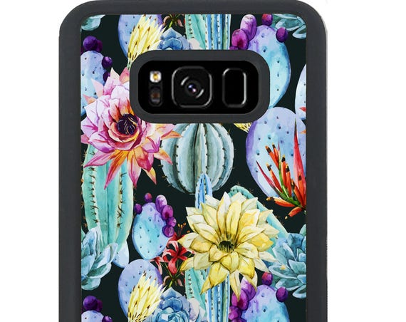 Summer Colorful Cactus Painting For Samsung Galaxy S9 Plus, S9, S8 Plus, S8, S7 Edge, S7, S6 Edge Plus, S6 Edge, S6, S5, S4, S3 Phone Case