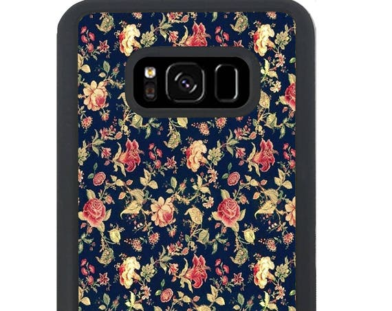 Vintage Floral Pattern For Samsung Galaxy S9 Plus, S9, S8 Plus, S8, S7 Edge, S7, S6 Edge Plus, S6 Edge, S6, S5, S4, S3 Phone Case