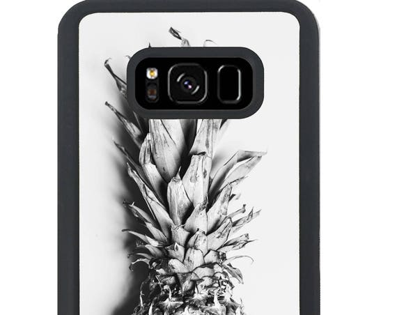 Black and White Pineapple For Samsung Galaxy S9 Plus, S9, S8 Plus, S8, S7 Edge, S7, S6 Edge Plus, S6 Edge, S6, S5, S4, S3 Phone Case