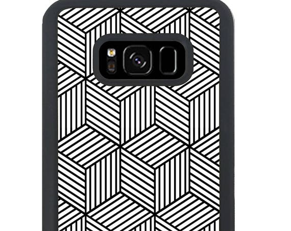 Black and White Geometric Squares For Samsung Galaxy S9 Plus, S9, S8 Plus, S8, S7 Edge, S7, S6 Edge Plus, S6 Edge, S6, S5, S4, S3 Phone Case