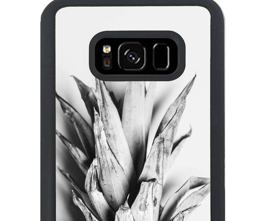 Blck and White Pineapple Top For Samsung Galaxy S9 Plus, S9, S8 Plus, S8, S7 Edge, S7, S6 Edge Plus, S6 Edge, S6, S5, S4, S3 Phone Case