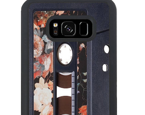 Vintage Floral Pattern Cassette Tape for Samsung Galaxy S4, S5, S6, S6 EDGE, S6 EDGE Plus, S7, S7 EDGE, S8 And S8 Plus