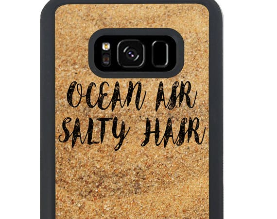 Ocean Air Salty Hair Quote For Samsung Galaxy S9 Plus, S9, S8 Plus, S8, S7 Edge, S7, S6 Edge Plus, S6 Edge, S6, S5, S4, S3 Phone Case