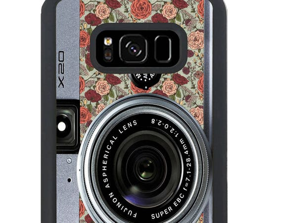 Floral Camera For Samsung Galaxy S9 Plus, S9, S8 Plus, S8, S7 Edge, S7, S6 Edge Plus, S6 Edge, S6, S5, S4, S3 Phone Case