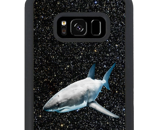 Shark in Space For Samsung Galaxy S9 Plus, S9, S8 Plus, S8, S7 Edge, S7, S6 Edge Plus, S6 Edge, S6, S5, S4, S3 Phone Case