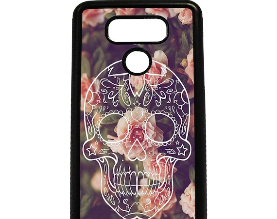 LG Case Sugar Skull on Vintage Floral LG G5 Case LG G6 Case Phone Case lg phone case g5 case g6 case Phone Cover sugar skull phone case