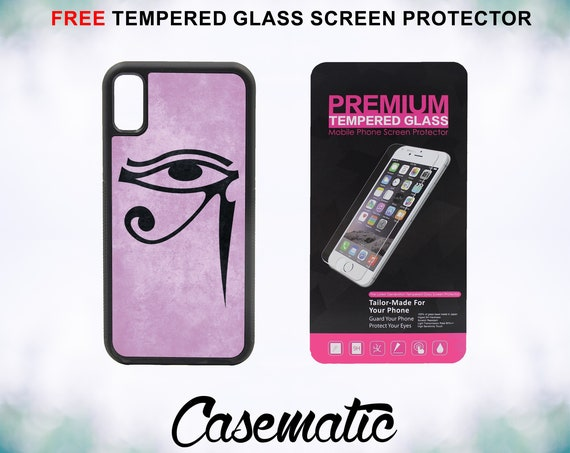 Eye of Horus Case With FREE Tempered Glass Screen Protector For iPhone 8 iPhone 8 Plus iPhone 7 iPhone 7 Plus iPhone X
