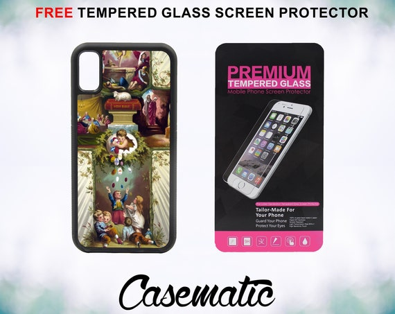 Religious Cross Case With FREE Tempered Glass Screen Protector For iPhone 8 iPhone 8 Plus iPhone 7 iPhone 7 Plus iPhone X