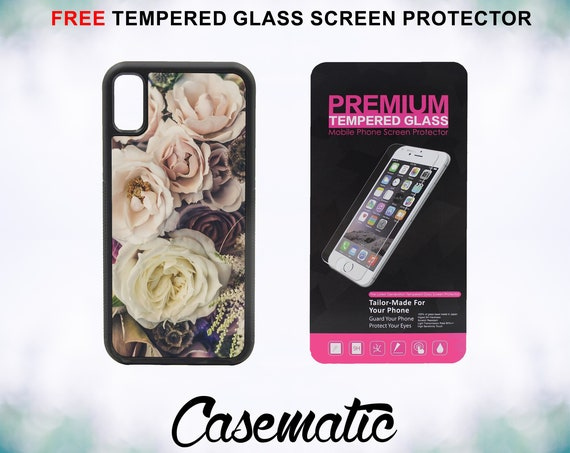 Bouquet of Flowers Case With FREE Tempered Glass Screen Protector For iPhone 8 iPhone 8 Plus iPhone 7 iPhone 7 Plus iPhone X