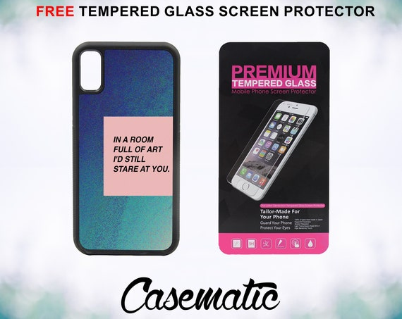 Art Shop Cute Quote Case With FREE Tempered Glass Screen Protector For iPhone 8 iPhone 8 Plus iPhone 7 iPhone 7 Plus iPhone X