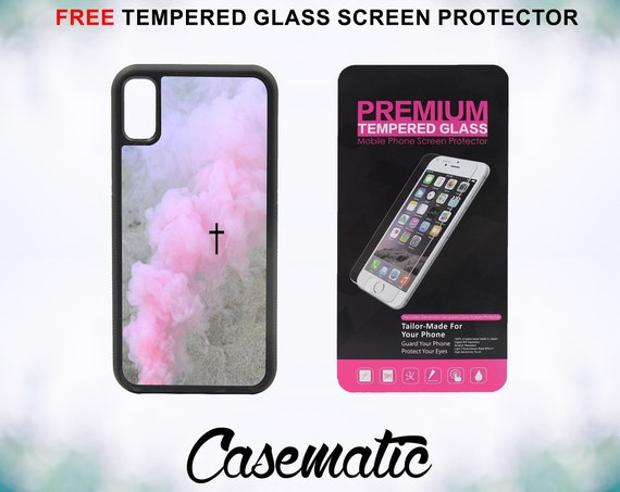 Smoke Cross Case With FREE Tempered Glass Screen Protector For iPhone 8 iPhone 8 Plus iPhone 7 iPhone 7 Plus iPhone X