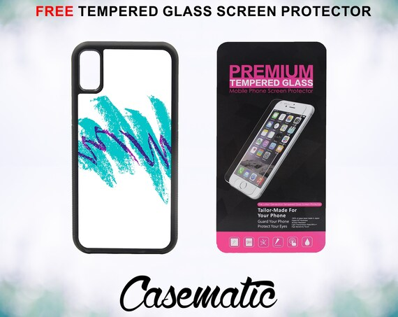 90s Jazz Cup Design Case With FREE Tempered Glass Screen Protector For iPhone 8 iPhone 8 Plus iPhone 7 iPhone 7 Plus iPhone X