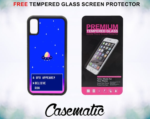 Do You Believe or Run Case With FREE Tempered Glass Screen Protector For iPhone 8 iPhone 8 Plus iPhone 7 iPhone 7 Plus iPhone X