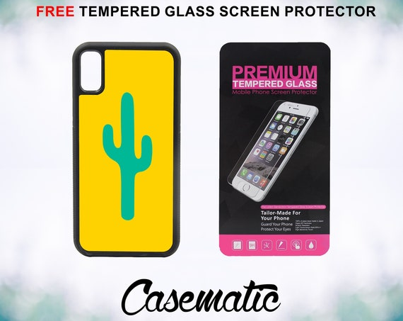 Cactus Minimal Case With FREE Tempered Glass Screen Protector For iPhone 8 iPhone 8 Plus iPhone 7 iPhone 7 Plus iPhone X