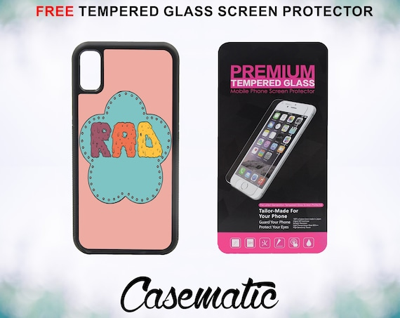 RAD Case With FREE Tempered Glass Screen Protector For iPhone 8 iPhone 8 Plus iPhone 7 iPhone 7 Plus iPhone X