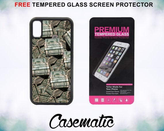Stacks of Money Case With FREE Tempered Glass Screen Protector For iPhone 8 iPhone 8 Plus iPhone 7 iPhone 7 Plus iPhone X iPhone XPlus